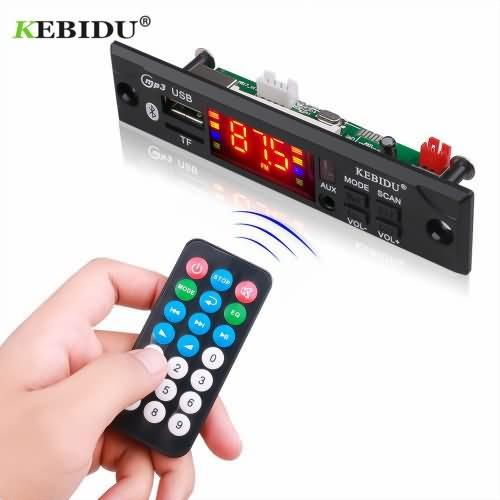 KEBIDU Hands-free MP3 Player Decoder Board Bluetooth 5.0 6W amplifier Car FM Radio Module Support FM TF USB AUX Recorder