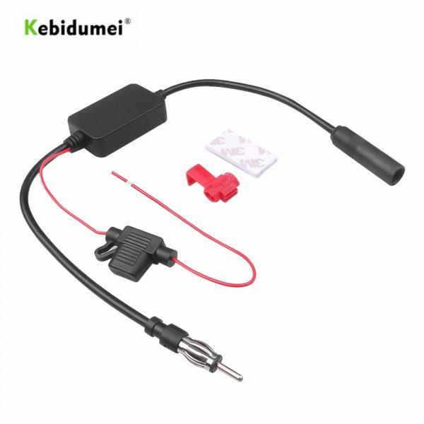 kebidumei Universal 12V Auto Car Radio FM Antenna Signal Amp Amplifier Booster For Marine Car